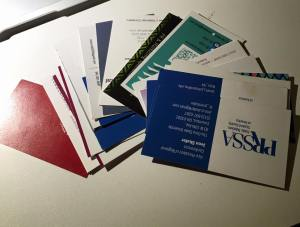 22 business cards in total from the PRSSA 2015 National Conference.