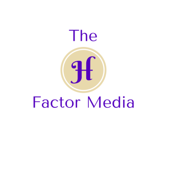 The logo for my social media marketing firm, The H Factor Media.