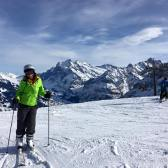Here I am skiing in the Jungfrau region of Switzerland. Absolutely incredible.