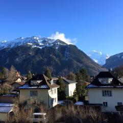 The view from my hostel in Interlaken, Switzerland. Breathtaking.