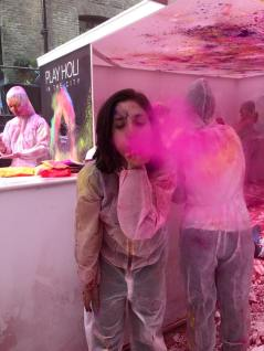 Doing something different at the House of Holi in Devonshire Square