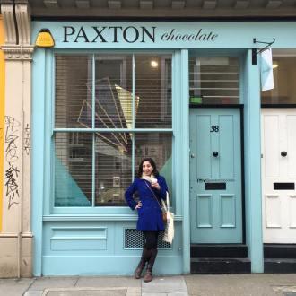I found a Paxton Chocolate shop in Brick Lane!